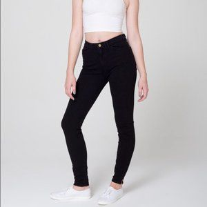 American Apparel High Waisted Zipper Pant
